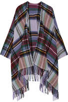 Holzweiler Dipper Fringed Plaid Wool And Cashmere-blend Wrap