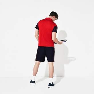 Lacoste Men's SPORT Color-Blocked Breathable Pique Tennis Polo Shirt