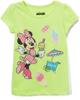Freeze Minnie Mouse Neon Green Heather Puff-Sleeve Tee - Toddler