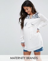 Mama Licious Mama.licious Mamalicious Blouse With Embroidery