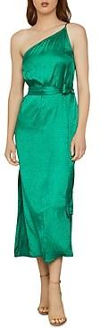 BCBGMAXAZRIA One-Shoulder Satin Dress