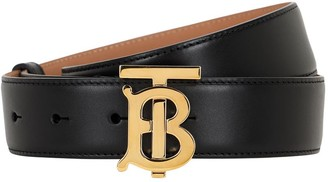 Burberry 35mm Tb Leather Belt