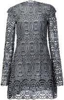 Christian Siriano embroidered lace dress