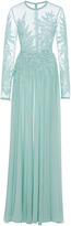 Elie Saab Macram Long Sleeve Gown