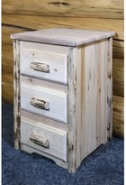 clear Tustin 3 Drawer Nightstand Loon Peak Color Lacquer