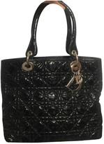 Christian Dior Lady Black Patent leather Handbags