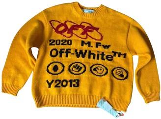 Off-White Orange Cotton Knitwear & Sweatshirts