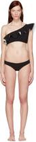 Lisa Marie Fernandez Black Arden Flounce Bikini