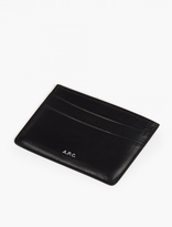 A.P.C. Navy Leather Cardholder