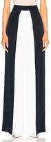Cushnie et Ochs Color Blocked High Waisted Wide Leg Silk Pant in Blue,White.