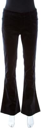 Gucci Navy Blue Velvet Flared Pants S