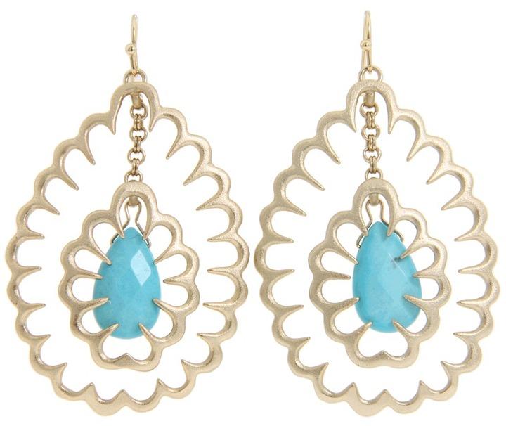 Kendra Scott Zola Earrings (Turquoise) - Jewelry