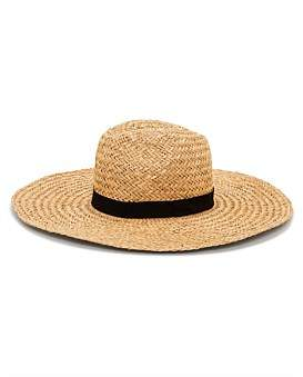 Milana Natural Straw Wide Brimmed Fedora