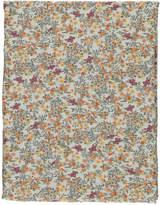 LINGE PARTICULIER Floral Washed Linen Duvet Cover