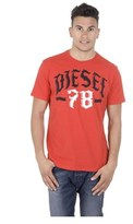 Diesel Mens T-shirt Short Sleeves Round Neck T-lonad.