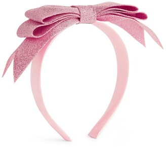 Hucklebones London Glitter Bow Headband