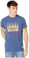 Original Retro Brand The Vintage Heathered Hamms Beer Tee (Heather Cobalt 1) Men's T Shirt