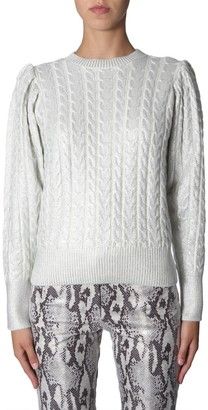 MSGM Metallic Effect Cable Knit Sweater