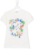 Moncler floral print T-shirt - kids - Cotton/Spandex/Elastane - 14 yrs
