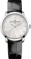 Girard Perregaux Girard-Perregaux 1966 stainless steel leather and diamond watch