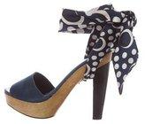 Diane von Furstenberg Ankle-Wrap Leather Sandals