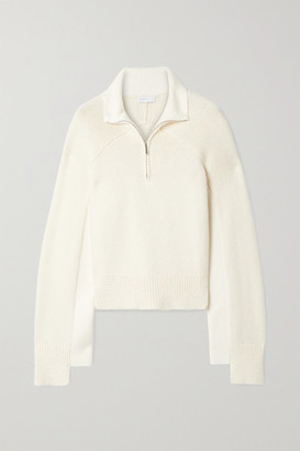 Rosetta Getty Cropped Two-tone Cotton-blend Sweater - Cream