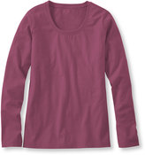 L.L. Bean Women's Carefree Unshrinkable Shirt, Long-Sleeve Scoopneck