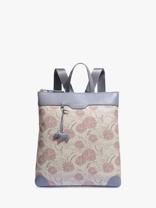 Radley Moonflower Medium Zip Top Backpack, Oyster