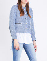Sandro Collarless tweed jacket