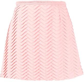 Marco De Vincenzo Embroidered Mini Skirt
