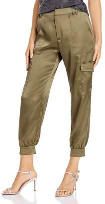 Aqua Satin Cargo Pants - 100% Exclusive