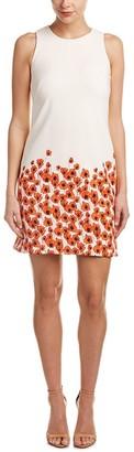 Taylor Dresses Women's Tossed Daisy Border Sheath Dress