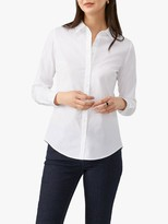 Pure Collection Cotton Stud Collar Shirt, White
