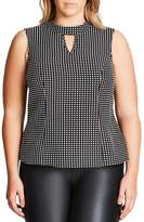 City Chic Polka Dot Top
