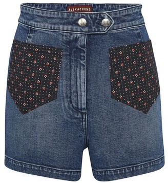 ALEXACHUNG Denim shorts