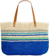 Style&Co. Style & Co. Stripe Straw Beach Bag Tote, Only at Macy's