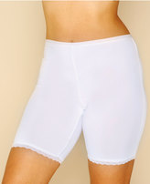 Yours Clothing White Thigh Smoother Brief With Lace Detail Hem