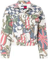 Tommy Jeans flag print denim jacket