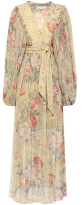 Zimmermann Floral-print Silk-georgette Midi Wrap Dress