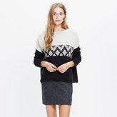 Madewell Contrast Fair Isle Pullover Sweater