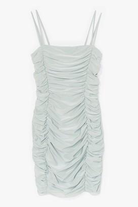 Nasty Gal Womens Always in a Ruche Strappy Midi Dress - White - 6, White