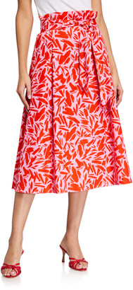 Veronica Beard Avi Printed Midi Skirt