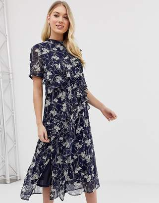 C By Cubic C by Cubic floral midi dress-Navy