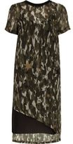 River Island Womens Khaki sheer camo asymmetric hem T-shirt dress
