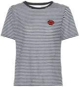 Velvet Rain striped cotton-blend T-shirt