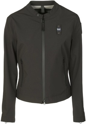 Blauer Buttoned Collar Zip Jacket
