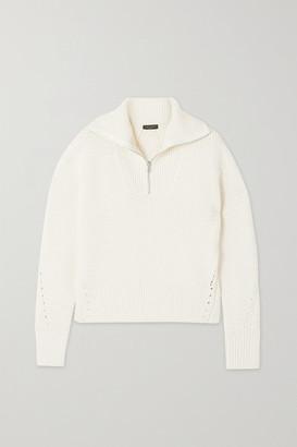 Rag & Bone Lena Pointelle-trimmed Organic Cotton-blend Sweater - Ivory