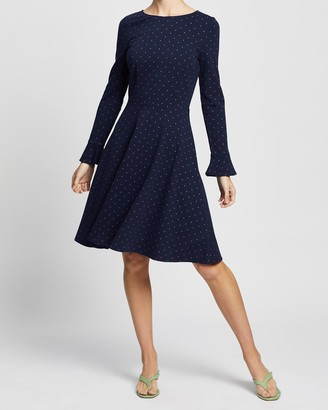 Review Lucy Spot Ponte Dress