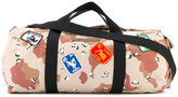 Palm Angels camouflage holdall - unisex - Cotton/Calf Leather - One Size