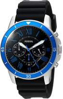 Fossil Men's 'Grant Sport' Quartz Stainless Steel and Silicone Casual Watch, Color: (Model: FS5300)